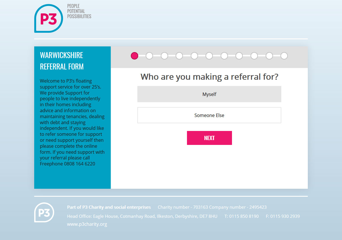 online referral web form
